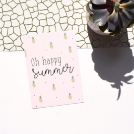Postcard, oh happy summer