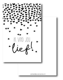Minikaartje, ik vind jou lief!