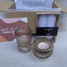 Kado-pakketje, candle pink