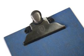 Houten klembord A5, vintage blauw