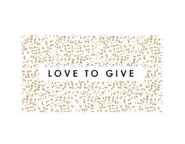 5 x kadosticker: love to give