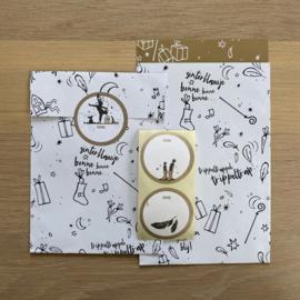 2  kadozakjes 12 x 19 cm:  Sint, incl stickers