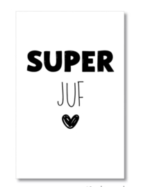 Mini kaartje: super juf.