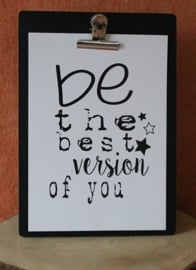 Poster, Be the best version of you