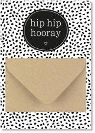 Geldkaart: hip hip hooray