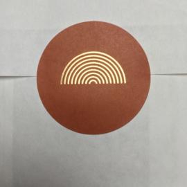 5 x kado sticker, regenboog brique