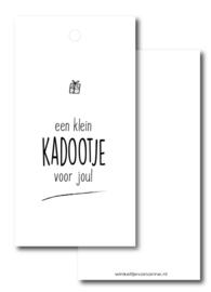 Kado label: een klein kadootje voor jou!