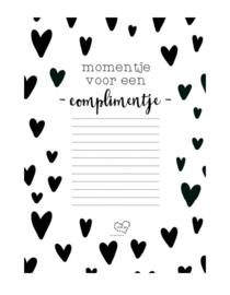 Notitieblokje: momentje voor een complimentje
