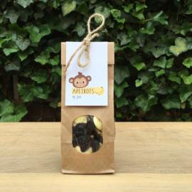 Zakje met apekoppen snoepjes en kaartje: apetrots op jou
