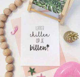 Postcard/woonkaart: lekker chillen op je billen