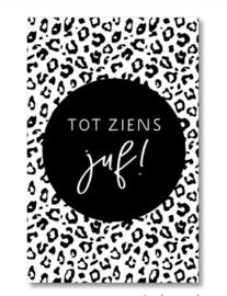 Mini kaartje: tot ziens juf!.