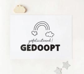 Postcard: gefeliciteerd GEDOOPT