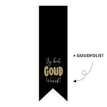 5 x kado sticker vaantje: jij bent GOUD waard!
