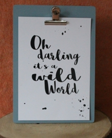 Poster, Oh darling it's a wild world