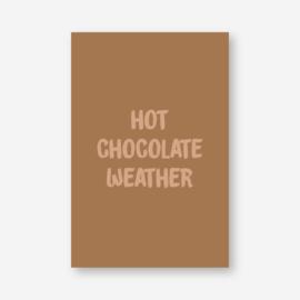 Mini kaartje: hot chocolate weather (K)