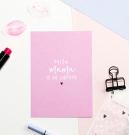 Postcard kleur: mijn MAMA is de liefste