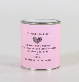 Kadoblikje: ik vind jou lief, roze