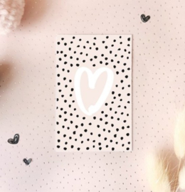 Mini kaartje: hart.