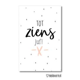 Minikaartje: tot ziens juf!  (S)