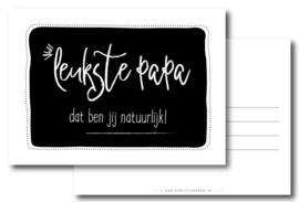 Postcard: leukste papa dat ben jij natuurlijk!