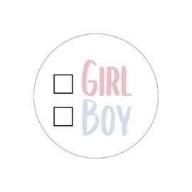 5 x kadosticker: girl - boy