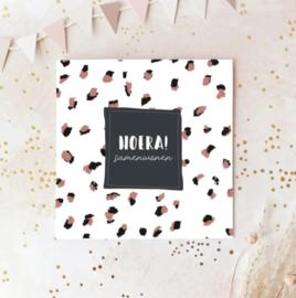 Dubbele postcard incl envelop: HOERA! samenwonen