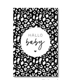 Mini kaartje: hallo baby.