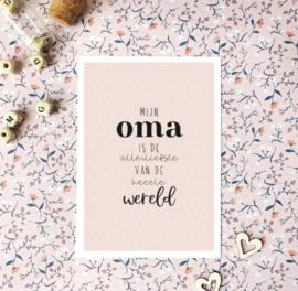 Postcard, mijn oma is de allerliefste van de heeele wereld