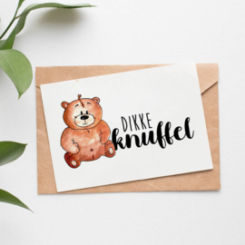 Postcard: dikke knuffel