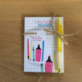 Kadoset: onbeschrijflijke ideeën: bedankt voor het onbeschrijflijk leuke schooljaar
