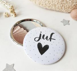 Spiegeltje Juf (inclusief minikaartje en sticker)