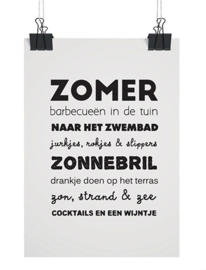Woonkaart/poster A5, Zomer
