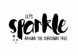 Postcard, lets sparkle around the christmas tree