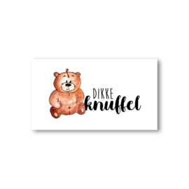 Minikaartje: dikke knuffel