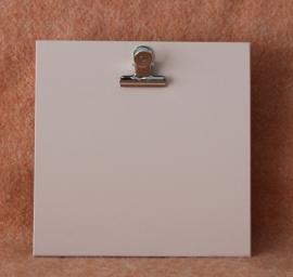 Houten klembord vierkant, perzik roze
