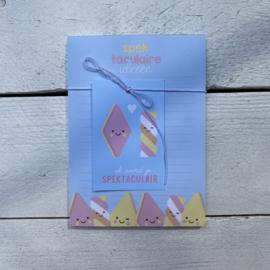 Blokje A6 : spectaculaire ideeen + minikaartje
