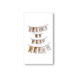 Minikaartje: hieper de piep hoera
