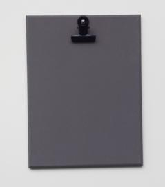 Houten klembord M, donker grijs