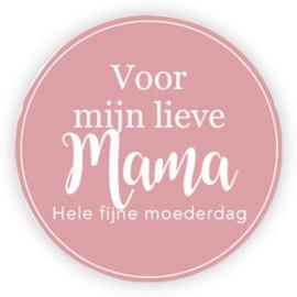 5 x Kado sticker: Voor mijn lieve mama