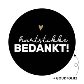 5 x kado sticker: hartstikke BEDANKT!
