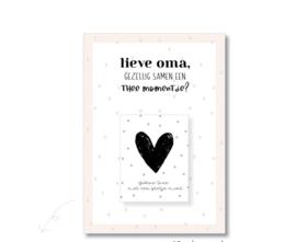 Postcard en theezakje, lieve OMA...