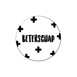 5 x kado sticker:  BETERSCHAP