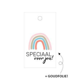 kado labeltje: regenboog, speciaal voor jou