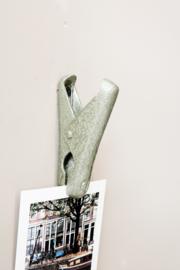 Groen metalen clip, 10 cm