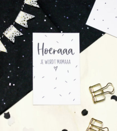 Minikaartje, hoera je wordt mama (M)