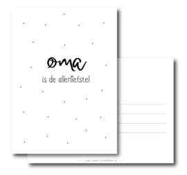Postcard: oma is de allerliefste!