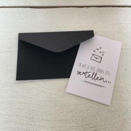 Envelop voor minikaartje, kleur zwart.