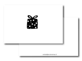 Minikaartje: cadeautje (W)