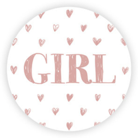 5 x kado sticker: GIRL