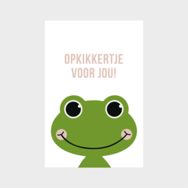 Minikaartje: opkikkertje voor jou!